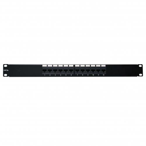 12 port rack mount cat 5e patch panel