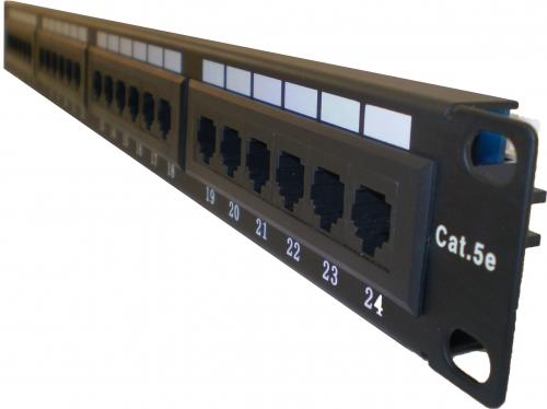 patch panel 24 port cat 5e